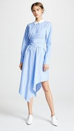 Jonathan Simkhai Long Sleeve Oxford Wrap Dress at Shopbop