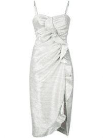 Jonathan Simkhai Metallic Plisse Lame Ruffle Dress - Farfetch at Farfetch