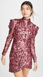 Jonathan Simkhai Metallic Vine Mock Neck Dress at Shopbop