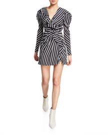 Jonathan Simkhai Multimedia Striped Ruffle Short Dress at Neiman Marcus