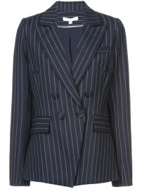 Jonathan Simkhai Pinstripes Structured Blazer - Farfetch at Farfetch