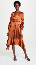 Jonathan Simkhai Satin Keyhole Midi Dress at Shopbop