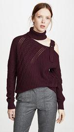 Jonathan Simkhai Strapped Wool Asymmetric Sweater at Shopbop