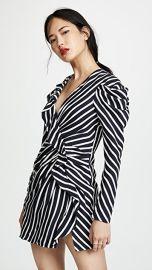 Jonathan Simkhai Stripe Ruffle Slit Dress at Shopbop