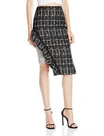 Jonathan Simkhai Women s Ruffle Space Dye Pencil Skirt at Amazon