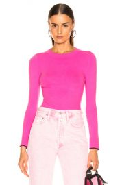 JoosTricot Crew Neck Sweater in Dragon Fruit   Pinot   FWRD at Forward
