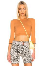 JoosTricot Cropped Sweater in Caramel Sauce   Coal   FWRD at Forward