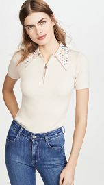 JoosTricot Polo with Swarovski Crystal Collar at Shopbop