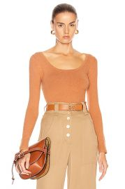 JoosTricot Scoop Neck Sweater in Cinnamon   FWRD at Forward