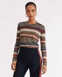 Jora Stripe Sweater at Veronica Beard
