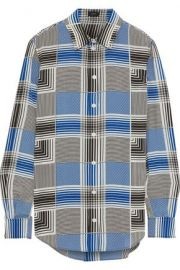 Joseph Gars checked silk crepe de chine shirt at The Outnet