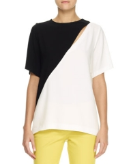 Joseph Marlin Bicolor Top at Bergdorf Goodman