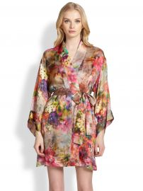 Josie Natori - Whimsical Floral Robe at Saks Fifth Avenue
