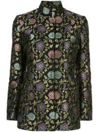 Josie Natori ornate floral jacquard blazer ornate floral jacquard blazer at Farfetch
