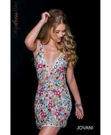 Jovani floral dress at edressme