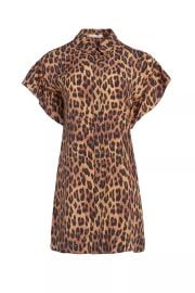 Jude Leopard Ruffle Sleeve Dress at Orchard Mile