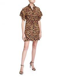 Jude Ruffle Button-Down Tunic Dress at Bergdorf Goodman