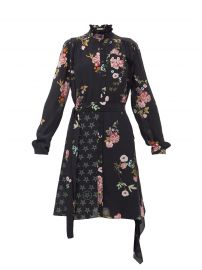 Jude floral & star-print crepe de Chine shirtdress at Matches