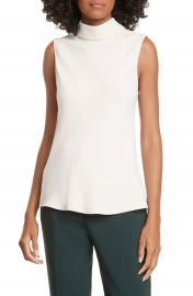 Judith  amp  Charles Tropea Sleeveless Stretch Silk Top   Nordstrom at Nordstrom