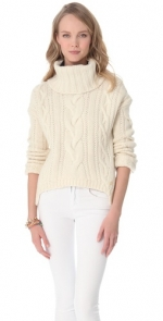 Juicy Couture Chunky Cable Turtleneck Sweater at Shopbop