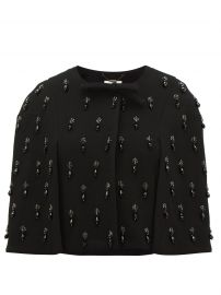 Jules Beaded Drop-Embroidered Bow Wool-Crepe Cape by Goat at Matches