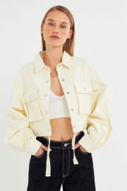 Jules Puff Sleeve Cropped Jacket at Urban Outfitters