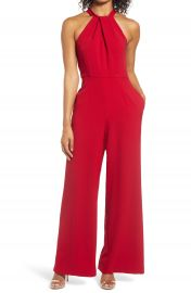 Julia Jordan Halter Neck Jumpsuit  Regular  amp  Petite    Nordstrom at Nordstrom