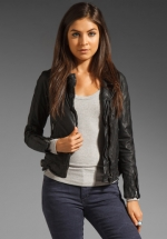 Juliettes black leather jacket at Revolve at Revolve