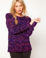 Jumper with purple flecks at ASOS at Asos