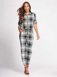 Jumpsuit: Zip front Jumpsuit - Gabrielle Union Collection by New York & Company at New York & Company