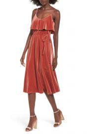 June & Hudson Velvet Midi Dress at Nordstrom