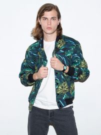 Jungle Leaves Club Jacket at American Apparel