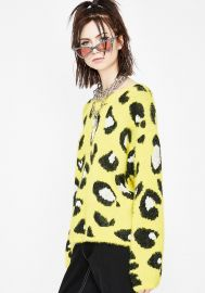 Jungle Wonder Leopard Sweater by Dolls Kill at Dolls Kill