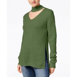 Juniors Cutout Turtleneck Sweater by Planet Gold at Macys