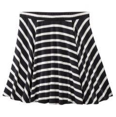 Juniors striped flippy skirt at Target