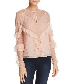 Juniper Ruffled Cutout Top by Guess at Bloomingdales