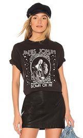 Junk Food Janis Joplin Down On Me Tee in Black from Revolve com at Revolve