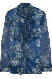 Jurnee chiffon-paneled floral-print silk-satin blouse at The Outnet