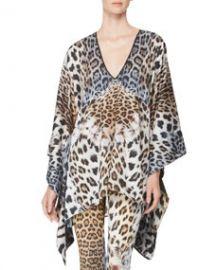 Just Cavalli Leopard-Print Caftan at Neiman Marcus