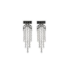 K Fringe Earrings with Swarovski Crystals at Karl Lagerfeld