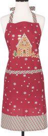 KAF Home Adult s Hostess Apron  Gingerbread  Adjustable Fit  amp  Machine Washable at Amazon
