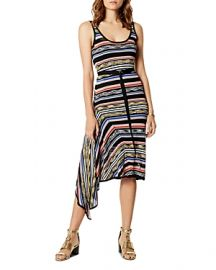 KAREN MILLEN Asymmetric Striped Dress at Bloomingdales