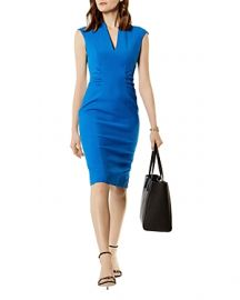 KAREN MILLEN Ruched Sheath Dress at Bloomingdales