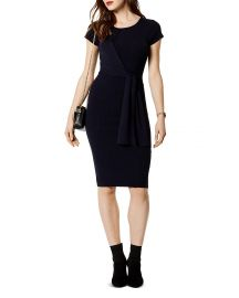 KAREN MILLEN Tie-Front Rib-Knit Dress at Bloomingdales