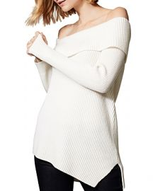 KAREN MILLEN ASYMMETRIC OFF-THE-SHOULDER SWEATER at Bloomingdales