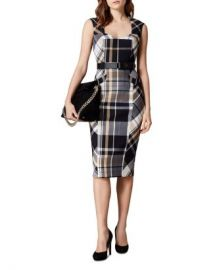 KAREN MILLEN Belted Check Sheath Dress Women - Bloomingdale s at Bloomingdales