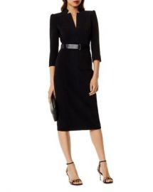 KAREN MILLEN Belted Sheath Dress  Women - Bloomingdale s at Bloomingdales