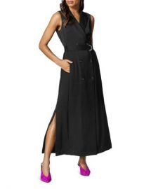KAREN MILLEN Belted Tuxedo Maxi Dress Women - Bloomingdale s at Bloomingdales