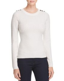 KAREN MILLEN Button Cable Knit Sweater - 100  Exclusive at Bloomingdales