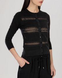 KAREN MILLEN Cardigan - Lace Stripe Knit Collection Women - Bloomingdale s at Bloomingdales